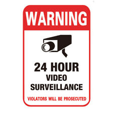 10PCS Surveillance Security Camera Video Stickers Warning Decal Sign Sticker