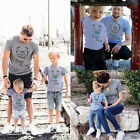 Baby Kids Boys Mens Womens Couple T-Shirt Family Matching Shirts Tee Top Clothes