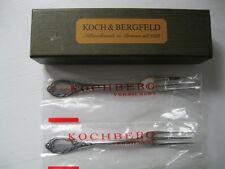 Koch & Bergfeld,2 Kuchengabeln,Modell Rokoko,90er Silberauflage,originalverpackt