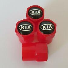 KIA RED Plastic Wheel Valve Dust caps all models 7 colour SORENTO RIO SOUL NIRO