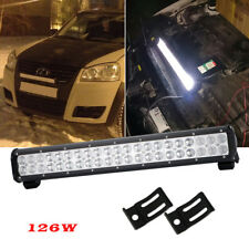 "20"" CREE LED Light Bar, 126W Flood Spot Combo 20 inch Fog Off-road Jeep ATV SUV"