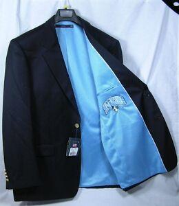 Johns Hopkins Blue Jays Team Blazer Licensed Logo Sport Coat Short Regular Tall