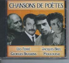 CD Chansons de Poètes Brel, .Ferré, Brassens NEUF
