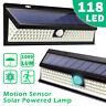 118LED Solar Lights Outdoor Wireless Motion Sensor Wall Yard Garden Pathway Lamp