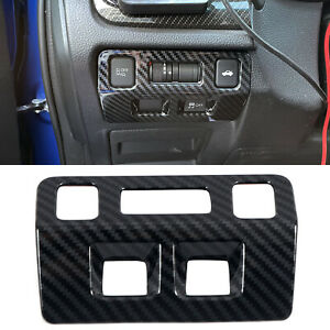 Carbon Fiber Head Light Switch Button Trim For Subaru WRX / WRX STI 2015-2020