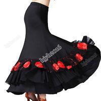 Ballroom Dance Costume Skirt  Long Party Performance Modern Standard Tango Waltz