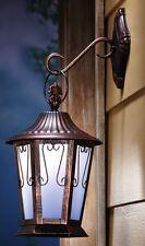 Solar Powered LED Antique Western Stage Coach Porch Patio Garden Wall Lantern