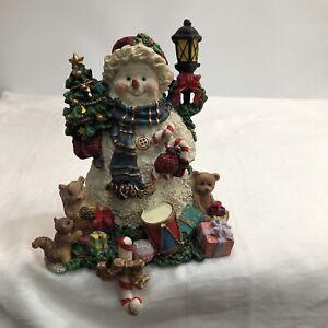 Grandeur Noel Collectable Snowman Stocking Holder.
