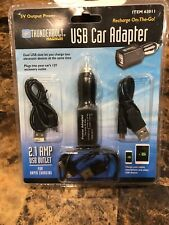 Thunderbolts Magnum UBS Car Adapter Recharge On -the Go Plug Into You Car's 12V