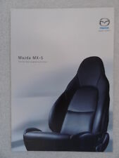 Mazda MX-5 1.6i,1.8i Specification Brochure 2002 - Equipment,Colours,Tech.Data.