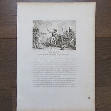 GRAVURE 1830 RAMPON CHEF DE BRIGADE 10 AVRIL 1796