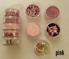 Nail glitter pink 5g stacker