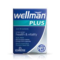 Vitabiotics Wellman Plus Omega 3/ 6/ 9 - 28 Tablets/ 28 Capsules
