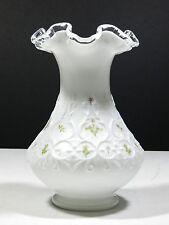 Vintage Fenton Art Glass Vase Hand Painted Signed