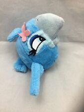 "Angry Birds Rio Jewel Parrot Bluebird With Sound Pink Flower Plush 8"" Blue Bird"
