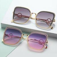 Geometric Square Polygon Metal Frame Sunglasses Outdoor Eyewear Unisex Women Men