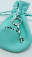Tiffany & Co New Silver Twist Oval Key Pendant Charm for Necklace no Chain