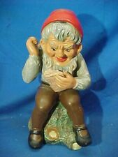 1970s HEISSNER West Germany No 513 GARDEN GNOME w BOOK Figure Never Used w TAG