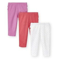 Koala Kids Baby 3 Pair Pack Girls Cotton Ruffle Pants Pink White Dots