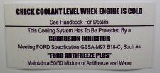 Check Kühlmittel Ebene Decal Mk1 & Mk2 Escort RS2000 Mexico TwinCam RS1600 AVO OVP