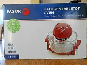 Fagor America 12 Quart Halogen Tabletop Oven - New IN BOX RED