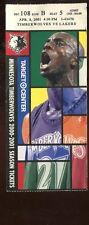 Ticket Basketball Minnesota 2000 - 01 4/8 Los Angeles Lakers Kevin Garnett