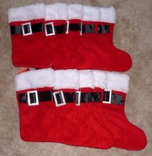 """Lot of 10 Felt Christmas 11"""" Red Stockings by Claire's - BRAND NEW"""