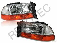 97-04 Dodge Dakota 98-03 Durango OE Style Headlights + Bumper Signal Lamps Set