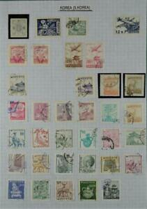 KOREA COREA STAMPS SELECTION ON PAGE   (Z160)