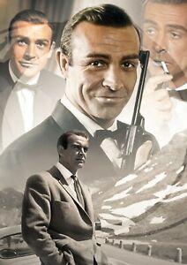 James Bond Retro Sean Connery Actor Film Producer A0 A1 A2 A3 A4 Photo Poster