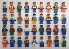 5 LEGO CONSTRUCTION MINIFIGS LOT random bulk city workers w/ 5 tool accessories