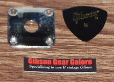 Gibson Les Paul Jack Plate Relic Nickel Output Cord Guitar Parts Jackplate R9 X