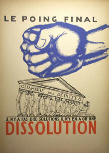 PAUL IRIBE - LE POING FINAL..DISSOLUTION - WOVE- FIRST EDITION 1934 - SATIRICAL