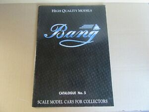 374L Bang Catalogue N°5 Of 44 Pages For Cars Gt 1/43
