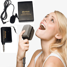 Wireless FM Transmitter Receiver Lavalier Lapel Mic System Microphone Wholesale