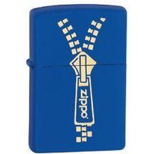 ACCENDINO ZIPPO ZIPPER Blu Chiusura Lampo Lighter Fiamma Fuoco 024 28236