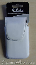 Genuine Valenta Leather White Pouch for iPhone 3GS, HTC Desire S Nokia N8, etc