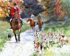 Giclee Print Foxhunt Horse Equestrian Painting Art Thoroughbred Warmblood