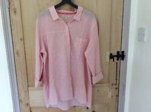 Barbour Ladies cotton shirt pink & white pinstripe. Size 16