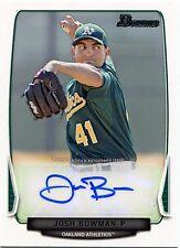 2013 Bowman Josh Bowman Prospect Autograph Card BPA-JB Athletics Tampa Spartans