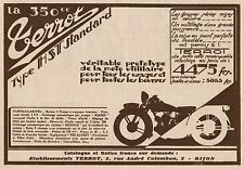 Y8010 Moto TERROT 350 c.c. Tipo HST Standard - Pubblicità d'epoca - 1930 Old ad