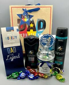 """""""DAD THE LEGEND"""" Fathers Day Gift Bag for DAD LYNX Collision Socks Toffee Jar"""