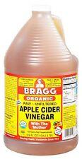 Apple Cider Vinegar Raw Unfiltered Unpasteurized Organic Bottle 128 Ounces New