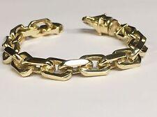 """10k Solid Gold Heavy Handmade Link Men's chain/Bracelet 10"""" 90 grams 10.5Mm"""
