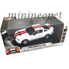 COLLECTIBLES 40th ANNIVERSARY 2007 FORD SHELBY GT 500 1/18 WHITE w RED STRIPES