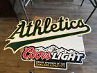 "Oakland Athletics Coors Light Metal Tin Beer Sign 36""x24"" (7093)"
