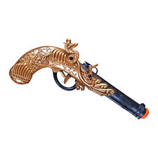 """Musketeer Musket or Pirate Pistol Toy 11"""" Length Ornate Gold Handle"""