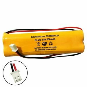4.8v 650mAh Ni-CD Battery Pack Replacement for Emergency / Exit Light