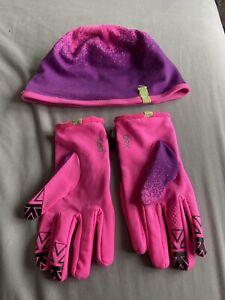 Karrimor Sports Running Hat And Gloves Set Pink