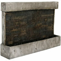 """Sunnydaze Ancient Waterfall Wall Outdoor Water Fountain 24"""" Water Feature"""